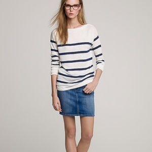 J.CREW 💙 Indigo Denim Blue Jean Skirt. Size 27